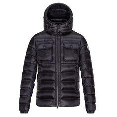Moncler Black Valence Stylish Down Jacket - Men