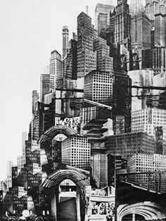 """CIVIC ARCHITECTURE - hive mentality """"Metropolis"""" Fritz Lang best example of what I think the pats saw the future as is this movie which in some cases I be leave is a acuray discription Metropolis Fritz Lang, Metropolis 1927, Photomontage, Future City, Utopia Dystopia, Silent Film, Retro Futurism, Art Plastique, Concept Art"""