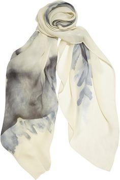 Halston Heritage Printed silk-chiffon scarf