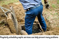 http://www.southeasternseptic.com/ If your home has a septic system rather than being connected to the city's sewer system, you are responsible for the maintenance and upkeep of that system.