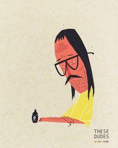 THESE DUDES - Scott MacDonald - Illustration and Design