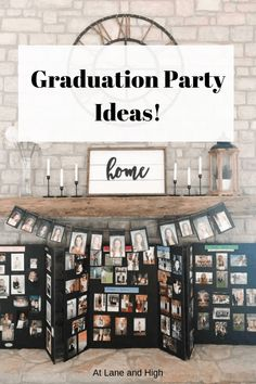 Today I am sharing my favorite Graduation Party Ideas that I used for my daughters High School Graduation. Graduation Party Desserts, High School Graduation Gifts, Graduation Decorations, Graduation Party Decor, Graduation Invitations, Grad Parties, Graduate School, Graduation Ideas, Farmhouse Family Rooms