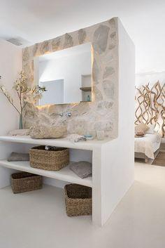Bathroom Interior Design, Modern Interior, Interior Decorating, Ibiza Style Interior, 1960s Interior, Balinese Interior, Foyer Decorating, Interior Colors, Interior Livingroom