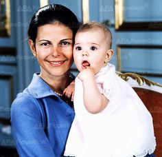 The Royal Watcher:  Queen Silvia and baby Victoria