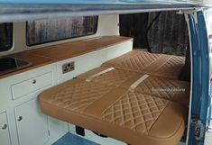 Camper interior gallery showing our range of VW interiors from Kustom Interiors, based in Cornwall Vw Transporter Camper, Vw T5 Camper, Kombi Motorhome, Vw T5 Interior, Campervan Interior, Interior Design, Vw Camper Conversions, Camper Van Conversion Diy, Combi Wv