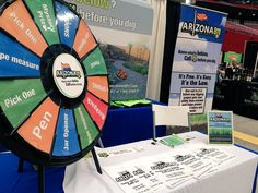 It's Day 2 of @TheHomeShows at @UOPXStadium! Come by and spin our prize wheel and learn about #Call811! Buy this Prize Wheel at http://PrizeWheel.com/products/tabletop-prize-wheels/mini-clicker-prize-wheel/.