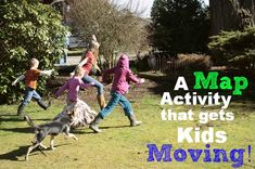 A Fun Map Skills Activity to get Kids Moving While Learning about the Cardinal Directions!