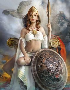 Artist: Unknown - Title: Unknown - Card: Athena, Protector of Order