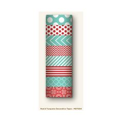 Decorative Tape Set Red/Turquoise
