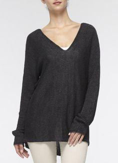 Vince: Double V Linen Sweater