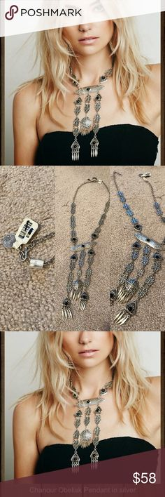 NWT free people Chanour obelisk pendant fringe NWT free people pendant necklace 🚫NO TRADES Free People Jewelry Necklaces