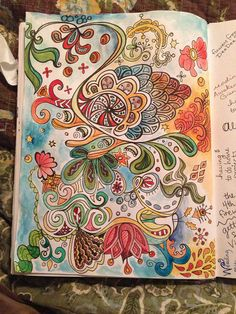 """""""Be a doodler!  A simple shape, a curving line, a flourish... all these elements can work together to create an interesting page."""""""