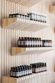 Designed by Tacklebox Architecture, the Aesop store on the Upper West Side celebrates beauty because of the past, not in spite of it. Upper West Side, Aesop Shop, Retail Store Design, Retail Stores, Merchandising Displays, Retail Displays, Shop Displays, Window Displays, Retail Interior