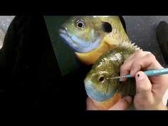 Kricky Cake Decorating: Realistic airbrushed fish cake tutorial 720p - YouTube