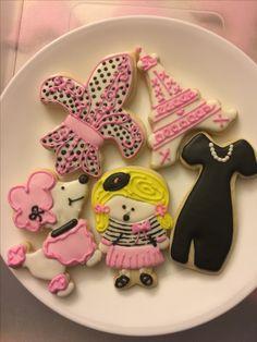 Paris themed sugar cookies