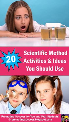 20 Scientific Method Activities for Elementary or Junior High Students - Visit our blog for lots of free teaching ideas and resources! Promoting Success for You and Your Students! http://promotingsuccess.blogspot.com/2014/09/scientific-method-activities.html