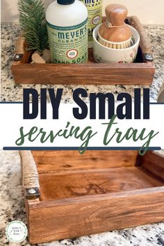 This DIY small serving tray is made from an inexpensive unfinished wood plaque. Check out how easy this beginner woodworking project really is! #diyhomedecor #wood trays #beginnerwoodworking #farmhousedecor Toddler Crafts, Easy Crafts, Crafts For Kids, Diy Projects For Kids, Diy Home Decor Projects, Unfinished Wood Plaques, Activities To Do With Toddlers, Epic Kids, Beginner Woodworking Projects