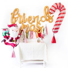 Friendsmas Christmas Balloon Tassel Party Box Be Merry Christmas Balloons, Merry Christmas, Classy Christmas, Christmas Night, Christmas Ideas, Christmas Displays, Christmas Quotes, Christmas Candy, Christmas Pictures