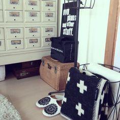 ラガハウス/DEAN&DELUCA/雑貨/白黒/ferm living風/トランク…などのインテリア実例 - 2014-02-24 11:25:53   RoomClip(ルームクリップ)