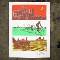 """BZ Bozz Illustration """"Layers of Iowa"""" Screenprint Poster from Domestica for $30.00"""