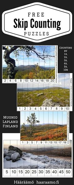 Free Skip Counting Puzzles PDF, photos from Lapland, Finland