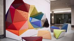 President Rick Wolfand Chief Creative Officer Marybeth Shaw spotlight the company's extensive upholstery collection in a colorful installation at this year's NeoCon. Spons...