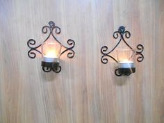 Handicraftscart Metal Twin Square Wall Sconce Set Of Two Standard Size 7 X 5 X 3 Inch Single Piece Size Black ** Want additional info? Click on the image.
