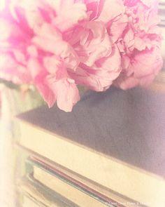 Flower Photography Art Print Soft Pink Peony by LocustGrovePhotos