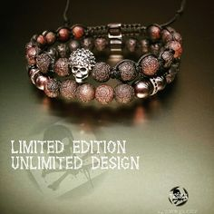 Silver skull agate bracelet