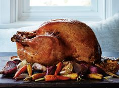 This turkey recipe needs 14 hours in your fridge. That means juggling some fridge space, I know — but trust me, it's worth it. I recommend leaving the brine on overnight, rinsing the turkey first thing in the morning, then returning it to the fridge to firm up the skin for 6 more hours or …