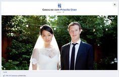 Mark Zuckerberg se casa e avisa ao mundo pelo Facebook