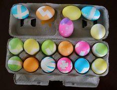 DIY Chevron Easter Eggs | BonBon Rose Girls