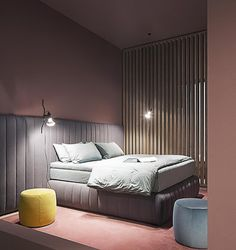 Tuyo stripe bed - design ANDREA PARISIO for Meridiani