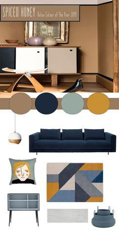 How To Use Spiced Honey - Dulux& Colour Of The Year 2019 duluxpaintcoloursforbedroom House Color Schemes, House Colors, Dark Interiors, Colorful Interiors, Home Trends, Contemporary Interior Design, Color Of The Year, Room Colors, Living Room Designs