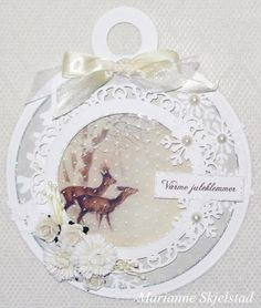 "Here's a Wintertime in Swedish Lapland card with the sweet image from the sheet Deer in 6"" in focus.Have a nice day,Marianne.Pion products:Wintertime in Swedish Lapland 6x6"" – Deer PD3903Wintertime in Swedish Lapland – Icicles PD3807"