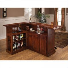 Clockway: Hillsdale Classic Cherry Large Bar with Side Bar - THD3330