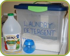 DIY green laundry detergent and cleaning solutions.  Run washing machine with 1 c. vinegar and then spray inside with vinegar/water mixture and do a wipe down.