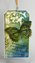 Butterfly Tag | Background on this tag is created with Distr… | Flickr