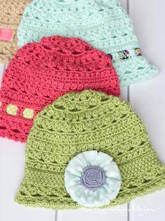 Crochet Summer Hats, Cute Crochet, Kids Crochet, Beanie Pattern Free, Free Pattern, Crochet Scarves, Crochet Hats, Crochet Beanie, Easy Crochet Projects