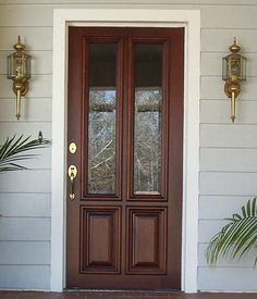 Craftsman Exterior Wood Front Entry Door DbyD-4033