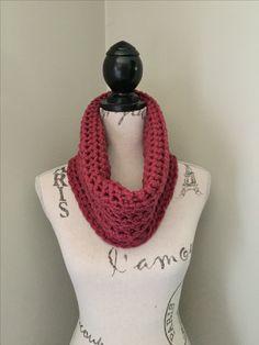Crochet cowl scarf CrownKnits.etsy.com