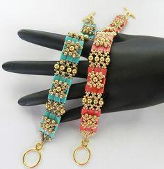Beautiful Jewelry made with Miyuki TILA Beads. Square Stitch. $7.50