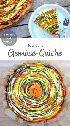 Gemüse-Quiche low carb Rezept