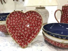 A Gift of a Heart. Pottery Making, Happy Valentines Day, Yummy Treats, Decorative Bowls, Lawn, Ireland, Irish, Table Settings, Presents