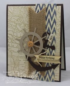 WMW Anchor Birthday by Wendybell - Cards and Paper Crafts at Splitcoaststampers
