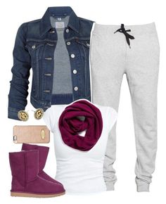 """""""Untitled #1469"""" by lulu-foreva ❤ liked on Polyvore featuring MICHAEL Michael Kors, Levi's, Trax, UGG Australia, Michael Kors and Halogen"""
