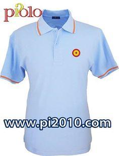 Polo celste con diana de bandera de España bordado en el pecho 22€ http://www.pi2010.com/polo-Bandera-Es…/Polo-casa-real-hombre Si te gusta, comparte