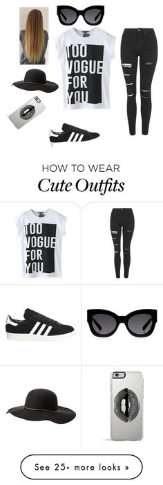 """""""Vogue outfit """" by xximixxx on Polyvore featuring Mode, adidas, Karen Walker, Charlotte Russe, Topshop und Lipsy"""