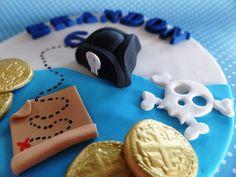 6 Fondant edible cake topper   Pirate Theme ahoy by TopCakeDecors