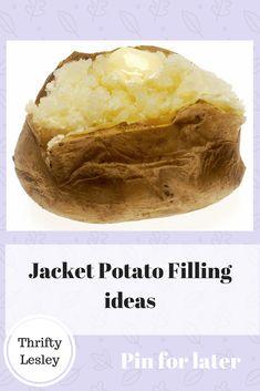 ideas for jacket potato fillings Baked Potato Fillings, Healthy Baked Potatoes, Potato Toppings, Cooking On A Budget, Budget Meals, Budget Recipes, Easy Recipes, Slimming World Jacket Potato, Slow Cooker Recipes Family